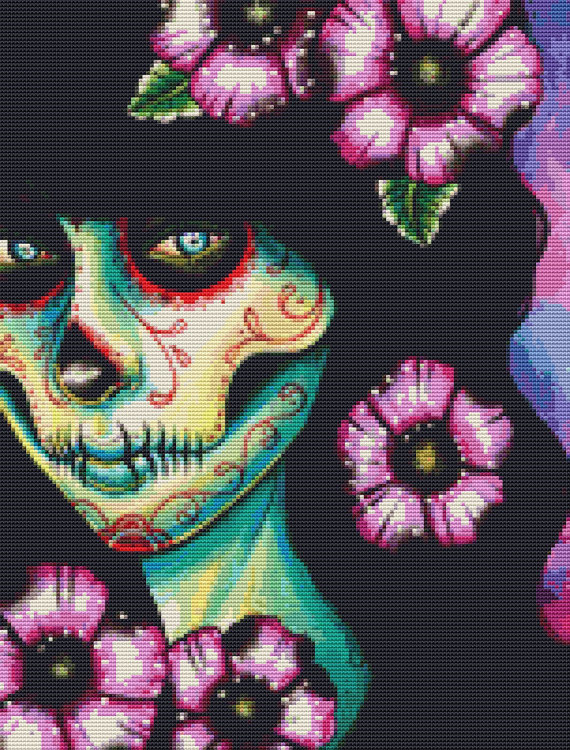 Day of the Dead Cross-Stitch